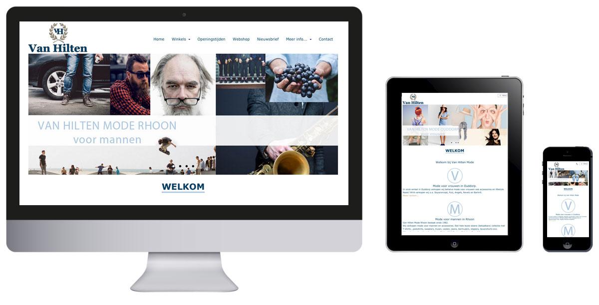 van Hilten Mode heeft een nieuwe website