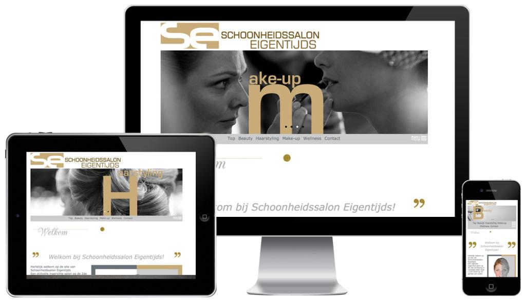 Website Schoonheidssalon EIGENTIJDS